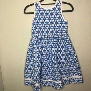 Lilly Pulitzer Coastal Blue Starfruit Dress Size 8